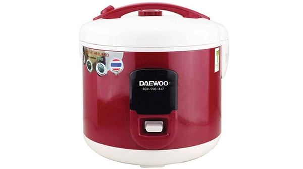 Nồi cơm điện Daewoo 1.8 lítRC01/700-1817U được làm từ chất liệu cao cấp, bền bỉ