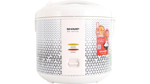 Nồi cơm điện Sharp 1.8 lít KS-181TJV mặt chính diện