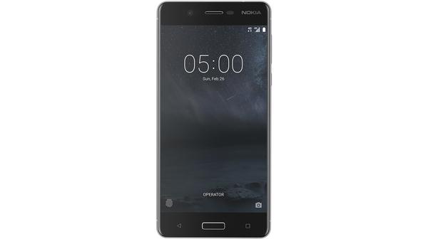 Điện thoại di động nokia 5 màu bạc với hệ điều hành Android