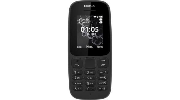 Điện thoại di động Nokia 105 Dual Sim 2017 đen sở hữu thiết kế đơn giản, tiện dụng