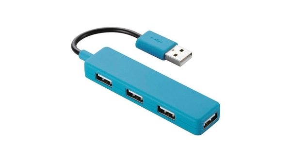 Bộ chia USB Elecom U2H-SN4BBU màu xanh