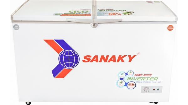 Tủ đông Sanaky Inverter 280 lít VH 4099W3 mặt chính diện