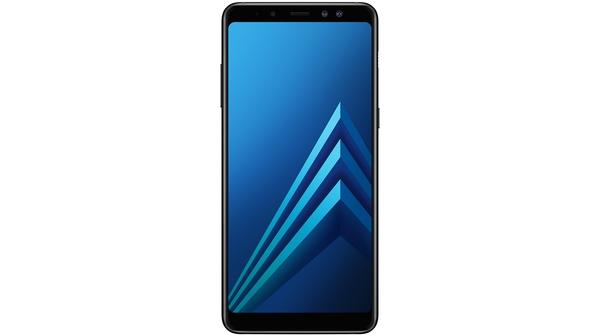 Điện thoại Samsung Galaxy A8+ 2018 màu đen mặt trước