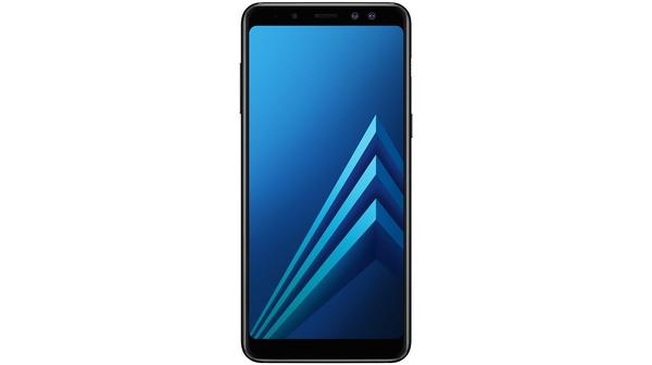Điện thoại Samsung Galaxy A8 2018 màu đen mặt trước