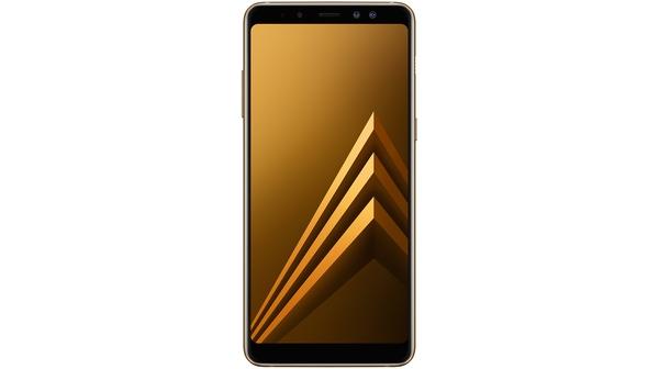 Điện thoại Samsung Galaxy A8+ 2018 màu vàng mặt trước