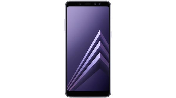 Điện thoại Samsung Galaxy A8+ 2018 màu tím mặt trước
