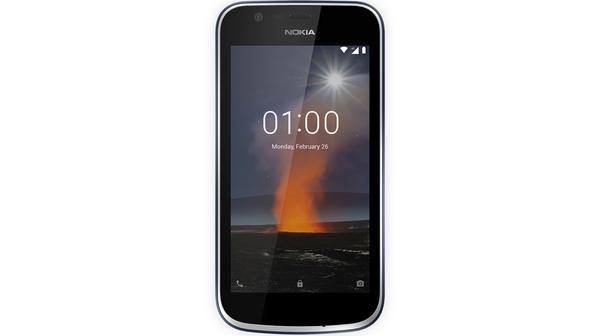 Điện thoại Nokia 1 màu xanh đen mặt trước