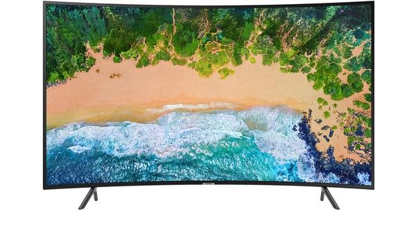Smart tivi màn hình cong Samsung 55 inch UA55NU7300KXXV mặt trước