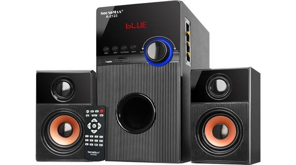 Loa vi tính Soundmax A2123 màu đen giá tốt tại Nguyễn Kim