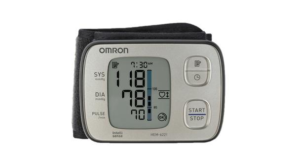 Máy đo huyết áp cổ tay Omron HEM-6221 giá ưu đãi tại Nguyễn Kim