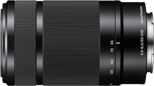 Ống kính máy ảnh Sony NEX SEL55210 màu đen chính hãng tại Nguyễn Kim