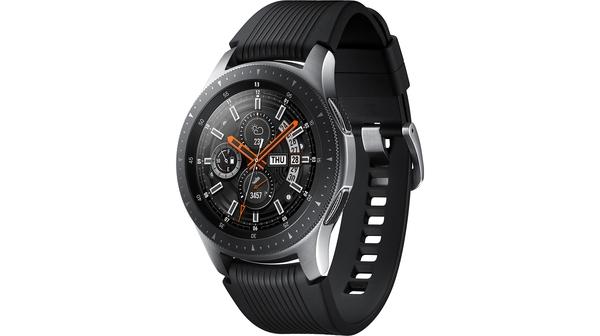 Đồng hồ Samsung Galaxy Watch 46mm Silver mặt nghiêng phải