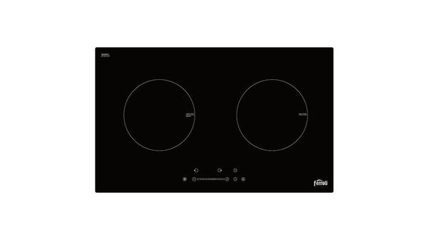 Bếp điện từ đôi Ferroli ID4000BS thiết kế mặt kính Schott Ceran cao cấp chịu lực