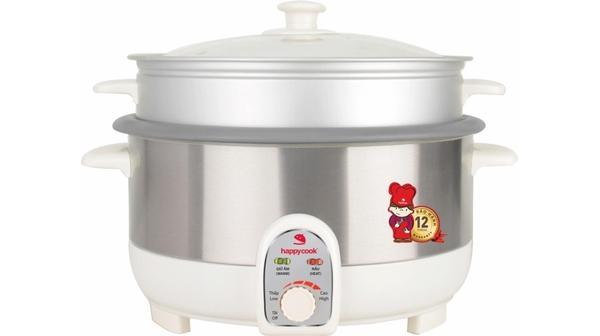Nồi lẩu điện Happy Cook HCHP-350ST thiết kế đơn giản, màu sắc nhã nhặn