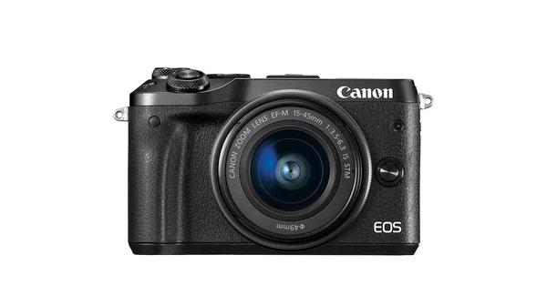 Máy ảnh Canon EOS M6 MKII EF-M15-45 (BK) giá rẻ tại Nguyễn Kim
