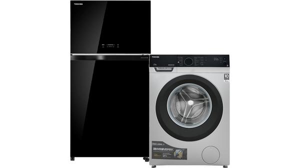 Combo Tủ lạnh Toshiba 555 lít GR-AG58VA + Máy giặt Toshiba 9.5 kg TW-BH105M4V giá hấp dẫn tại Nguyễn Kim