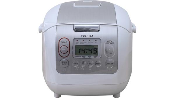 Nồi cơm điện Toshiba 1 lít RC-10NMFVN(WT) mặt chính diện