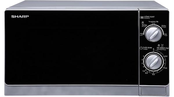 Lò vi sóng Sharp 20 Lít R-203VN-M mặt chính diện