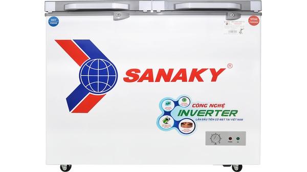Tủ đông Sanaky Inverter 260 lít VH-3699W4K mặt chính diện