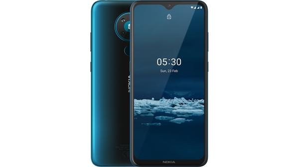 Điện thoại Nokia 5.3 Xanh thiết kế nhỏ gọn