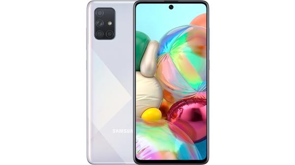 Điện thoại Samsung Galaxy A71 Bạc độc đáo mặt chính diện trước sau