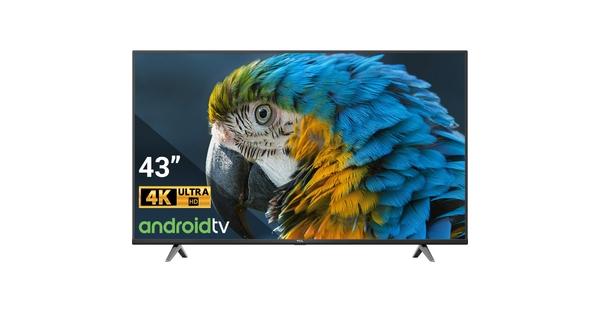 Android Tivi TCL 4K 43 inch 43P618 mặt chính diện