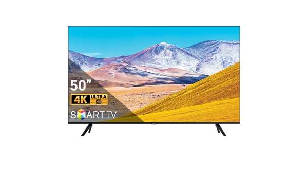 Smart Tivi Samsung 4K 50 inch UA50TU8000KXXV mặt chính diện