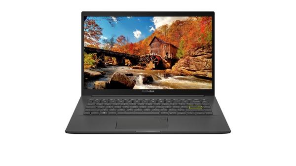 Laptop Asus VivoBook 14 A415EA i5-1135G7/8GB/512GB EB360T mặt chính diện