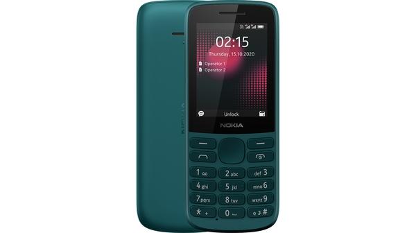 Điện thoại Nokia 215 4G Xanh mặt chính diện trước sau