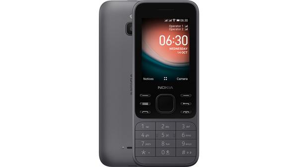 Điện thoại Nokia 6300 4G Đen Xám mặt chính diện trước sau