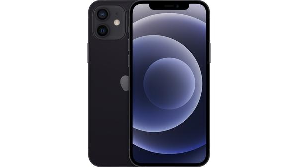 Điện thoại iPhone 12 64GB Đen mặt chính diện trước sau