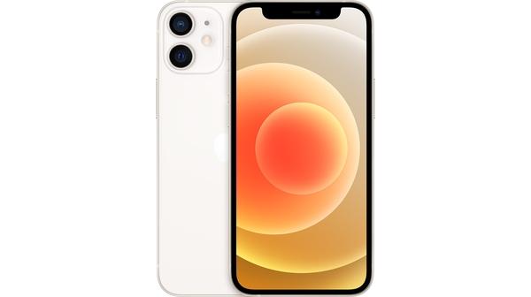 Điện thoại iPhone 12 64GB Trắng mặt chính diện trước sau