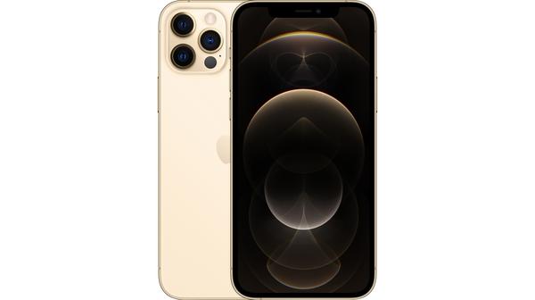 Điện thoại iPhone 12 Pro Max 256GB Vàng mặt chính diện trước sau