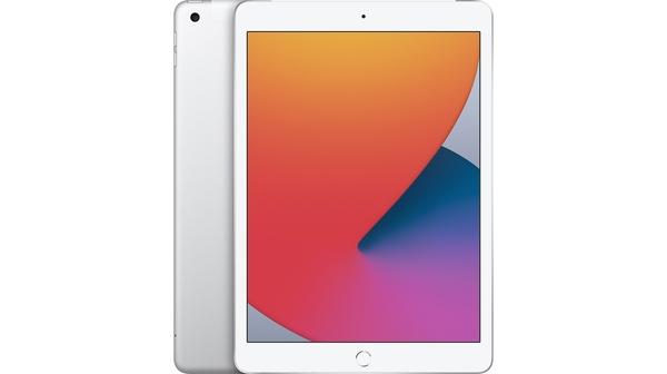 Máy tính bảng iPad 10.2 inch Wifi Cellular 128GB MYMM2ZA/A Bạc 2020 mặt chính diện trước sau