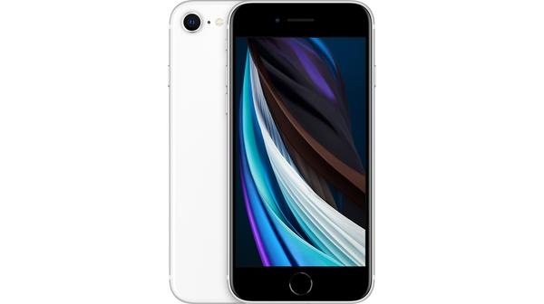 Điện thoại iPhone SE 128 GB Trắng mặt chính diện trước sau