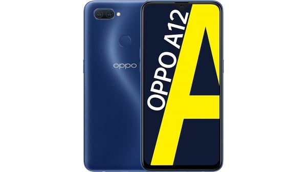 Điện thoại OPPO A12 3GB/32GB Xanh Đam Mê mặt chính diện trước sau