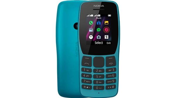 Điện Thoại Nokia 110 DS Xanh mặt chính diện trước sau