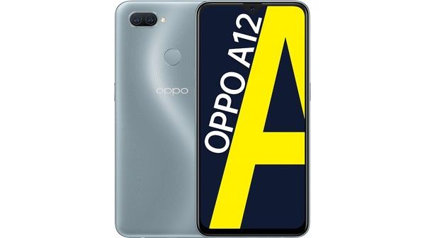 Điện thoại OPPO A12 3GB/32GB Bạc mặt chính diện trước sau