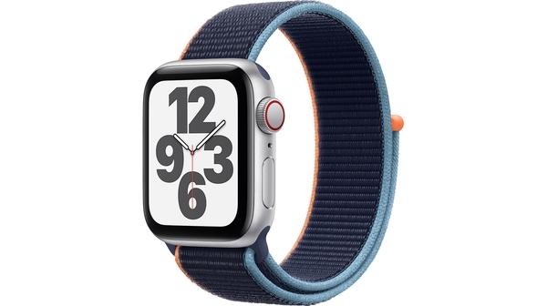 Apple Watch SE LTE 40mm Vỏ nhôm Dây vải Xanh navy mặt nghiêng trái