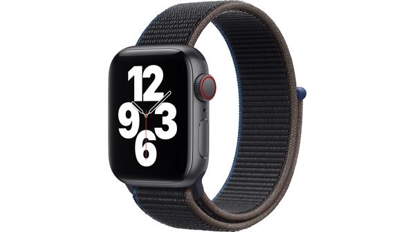 Apple Watch SE LTE 40mm Vỏ nhôm Dây vải Charcoal mặt nghiêng trái