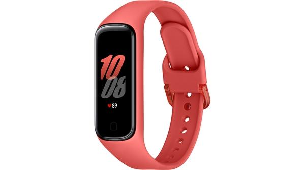 Vòng đeo tay SamSung Galaxy Fit2 Đỏ mặt nghiêng trái