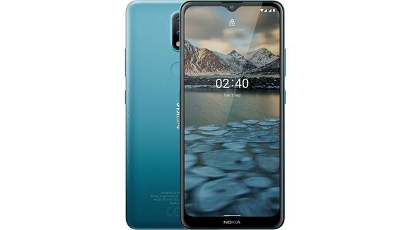 Điện thoại Nokia 2.4 Xanh mặt chính diện trước sau