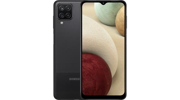 Điện thoại Samsung Galaxy A12 128GB Đen mặt chính diện trước sau
