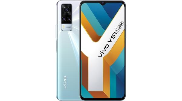 Điện thoại Vivo Y51 8GB/128GB Tím Bạc mặt chính diện trước sau