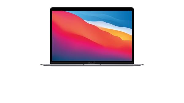 Laptop MacBook Air M1 2020 13.3 inch 256GB MGN63SA/A Xám mặt chính diện