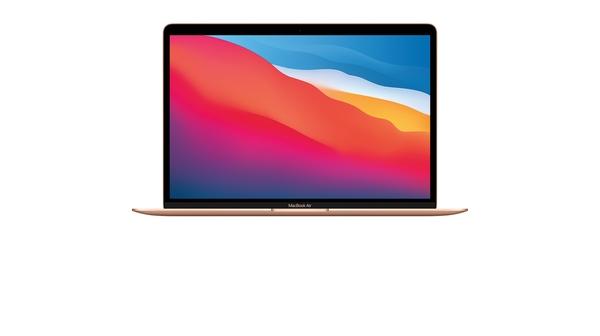 Laptop MacBook Air M1 13.3 inch 512GB MGNE3SA/A Vàng mặt chính diện