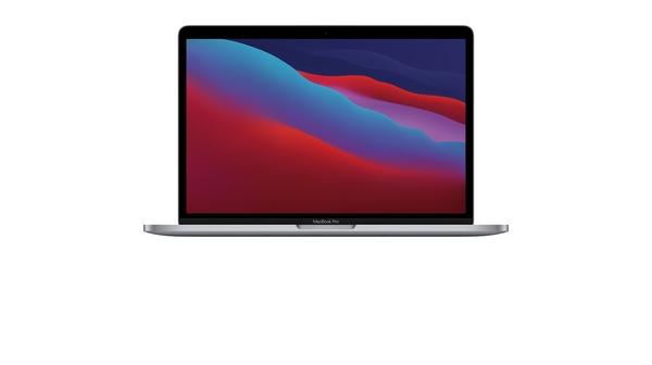 Laptop MacBook Pro M1 13.3 inch 512GB MYD92SA/A Xám mặt chính diện