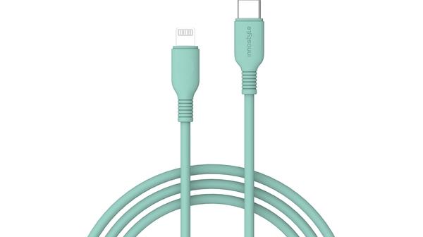 Cáp sạc USB-C to Lightning 1.2m Innostyle Jazzy J_ICL120 Xanh lá Sạc nhanh 3A