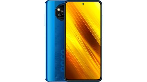 Điện thoại Xiaomi POCO X3 6GB/64GB Xanh Dương mặt cạnh trên dưới