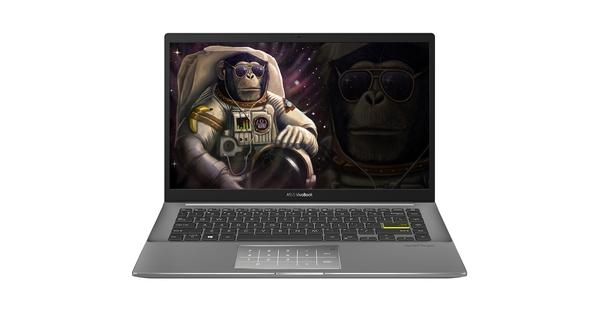 Laptop Asus Vivobook S14 S433EA-AM439T I5-1135G7 14 inch Đen mặt chính diện